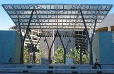Canopy Architecture, Landscape Architecture, Retail Architecture, Architecture Design, Roof Structure, Shade Structure, Interior Exterior, Exterior Design, Retail Facade