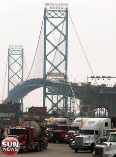 Ambassador Bridge.  Detroit to Windsor link