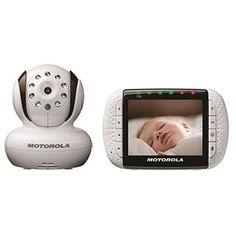 "Motorola Digital 3.5"" video monitor has a room temperature sensor, LED sound alerts, night vision, built-in lullabies, larger video screen and tilt and pan remote camera control $200-$250"
