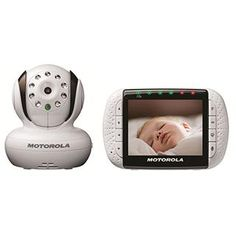 "Motorola Digital 3.5"" video monitor has a room temperature sensor, LED sound alerts, night vision, built-in lullabies, larger video screen and tilt and pan remote camera control $200-$250"
