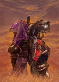 Tali and Legion by Iorna-ka