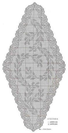 20 Ideas For Crochet Table Runner Diagram Watches Crochet Lace Edging, Crochet Cross, Thread Crochet, Crochet Doilies, Filet Crochet Charts, Crochet Stitches Patterns, Crochet Designs, Crochet Table Runner, Crochet Tablecloth