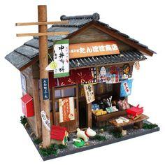 ビリー 手作りドールハウスキット 昭和シリーズキット 駄菓子屋 8532:Amazon.co.jp:おもちゃ