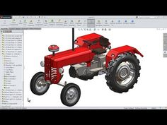 SolidWorks Tractor 3D View - YouTube
