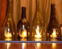 wine bottle centerpieces for wedding - Google Search