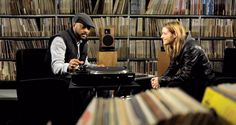 #madlib interview at #radiofrance record library #music #stonesthrow #vinyl