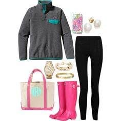 """lazy rainy day!"" by the-southern-prep on Polyvore"