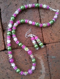 SALE Orchid Hemlock Pearl and Candy Jade by SinginHoundBeadz