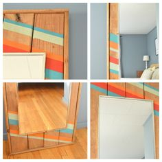 Colorful leaning mirror -- Plaster & Disaster