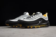 online retailer 458b4 9112f Men s Nike Air Max 97 Black White-Yellow Shoes