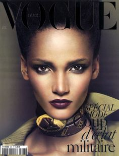 French Vogue will feature a solo black model on its March 2010 cover for the first time since 2002, Models.com reports. Rose Cordero, 18, is from the Dominican Republic and was shot by Mert Alas and Marcus Piggott