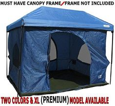 Standing Room 100 Family Cabin C&ing Tent (Blue) With 8.5 feet of Head Room & On my list: Northwoods 6-person tent. I HATE cramped camping. Best ...