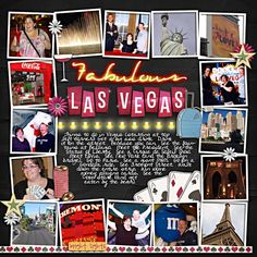 Las Vegas scrapbook page layouts | fall leaves kit and a layout by aussiekat