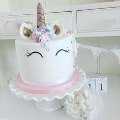 My unicorn cake I created for my little girl - I loved making it! www.facebook.com/lolliandshell