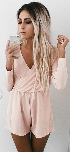 Peach Playsuit                                                                             Source