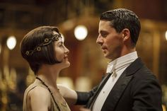 """Michele Dockery and Matthew Goode in """"Downton Abbey"""" on PBS."""