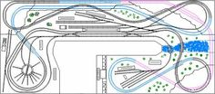 Continuous double track folding loop... Black = level 1, Blue = level 2, Pink = level 3.