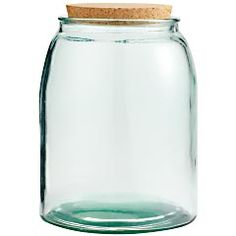 Glass Cookie Jar with Cork Lid