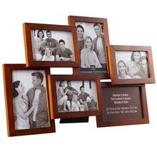 Walnut 6-Opening Collage Frame, Expressions™ By Studio Décor®