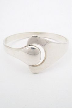 Hans Hansen Denmark vintage Scandinavian Modernist silver Puzzle bracelet