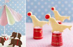 Circus Theme Birthday - Circus Animal Shaped cookies