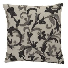 Legends® Floral Vine Pillow Cover - Bring subtle sophistication to the bed or sofa with this inviting accent pillow cover, designed with embroidered florals in a palette of soft neutrals.
