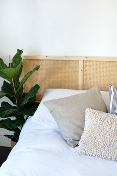 It's time for a brand new Collection of IKEA Hacks With a High End Look! You won't believe how incredibly expensive these IKEA Hacks look! Best Ikea, Rattan Headboard, Decor Buy, Caned Headboard, Ikea, Bed, Headboard, Decor Essentials, Ikea Bedroom