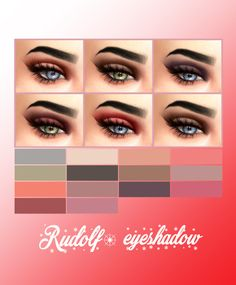 Kenzar Sims: Rudolf eyeshadow • Sims 4 Downloads