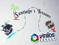 Vinil Decorativo Mapa del tesoro