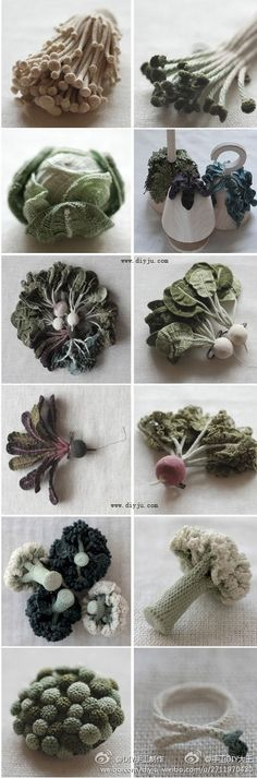 amazing crocheted vegetables                                                                                                                                                                                 Plus