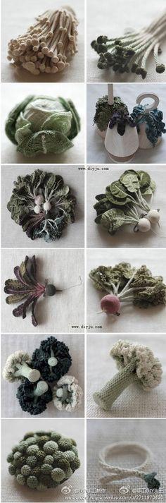 amazing crocheted vegetables                                                                                                                                                                                 Plus