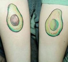 Couples Avocado Tattoos Art On Hands