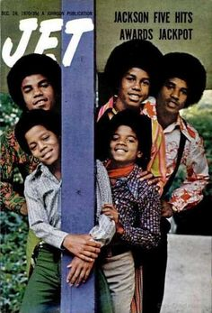 The Jackson Five on the cover of Jet, December 1970. Back when the Jacksons were natural looking...