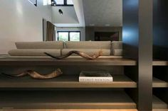 Living room built in credenza