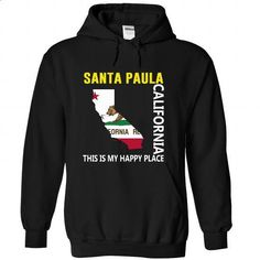 Santa Paula, California - This Is My Happy Place - vintage t shirts #tshirt bemalen #off the shoulder sweatshirt