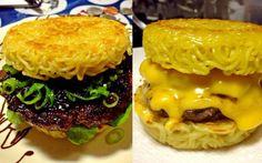 hambúrguer de miojo