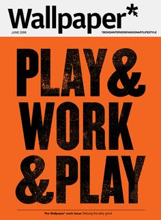 Wallpaper* cover by Anthony Burrill