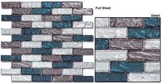 Glazzio Tiles Glass & Slate Mosaic