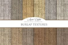 Burlap Textures Digital Papers Graphics **This item is now available in the 192 Texture Bundle! Find it here:**https://creativemarket.com/ by Avenie Digital