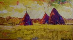 Lajos Kovács Emil gold fields Fields, Paintings, Contemporary, Gold, Art, Art Background, Paint, Painting Art, Kunst