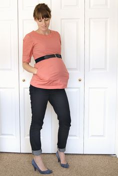 Pink & Navy (I made a point to not wear any maternity clothes through my entire pregnancy, this is my documentation of those outfits)