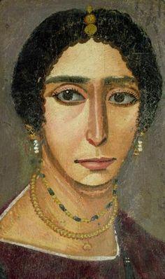 Fayum portrait of a woman Roman Egypt ca 350 a.C.