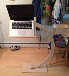 custom laptop/ipad stand for computing while reclining