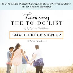 Looking for extra discussion, accountability and community for our next Proverbs 31 Online Bible Study with? Don't miss out on joining one of our #P31OBS Facebook small groups to help you #TameYourList! Note: small groups are optional and space is limited. || click here to learn more and register --> https://docs.google.com/forms/d/19559MYK6jlqRy8wqPMpYIGcJ_J6cueHcHYpDQF5Ku1w/viewform?c=0&w=1