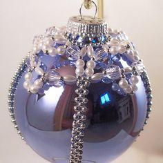 Elegant Christmas Ornament Pattern, Beading Tutorial in PDF $5.00 pattern