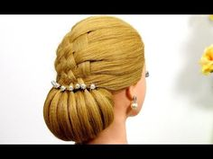 Beautiful Updo hairstyles. Hairstyles for medium hair. Wedding hairstyles. - YouTube