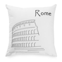Buy Passport 18-Inch Square Postcard Toss Pillow in Rome from Bed Bath & Beyond