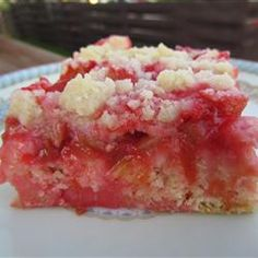 Fruits And Vegetables, Moms Rhubarb Cake, Sliced Sweetened Rhubarb Is Topped With Streusel And Baked On A Pastry Crust For A Deliciously Tangy Rhubarb Dessert. Rhubarb Desserts, Rhubarb Cake, Just Desserts, Delicious Desserts, Rhubarb Crunch, Rhubarb Bread, Rhubarb Dishes, Cooking Rhubarb, Rhubarb Pudding