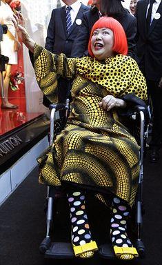 NYC Louis Vuitton and contemporary polkadot artist Yayoi Kusama.