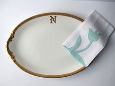 Elegant Antique Limoges LaSeynie Monogrammed N by thechinagirl